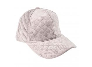 Růžová sametová kšiltovka - 57 cm