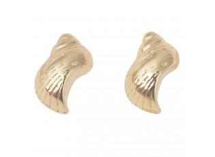 Zlaté náušničky ve tvaru mušlí