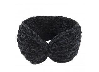 Černá dámská žinilková čelenka Peppe - 22*12 cm