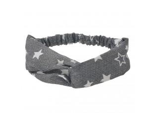 Khaki látková čelenka s hvězdičkami