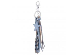Modrá klíčenka s hvězdičkou