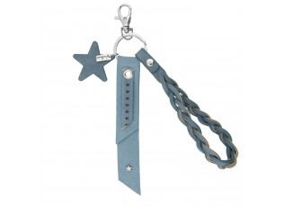 Modrý přívěsek na klíče s hvězdičkou