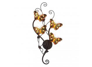Nástěnná lampa Tiffany Papillons - 32*68 cm G4/4*2W