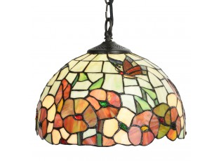 Závěsné svítidlo Tiffany Coquelicots - Ø 30*20/120 cm E27/max 1*60W