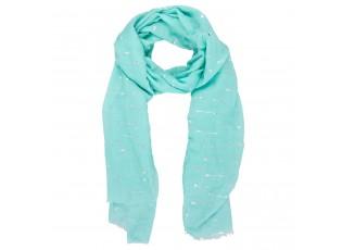 Světle modrý šátek se šípy - 70*180 cm