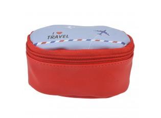 Červený toaletní kufřík I Love Travel - 12*8*6 cm