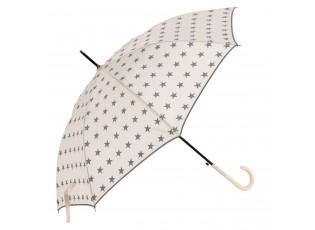 Béžový deštník s hvězdami - Ø 98*55 cm