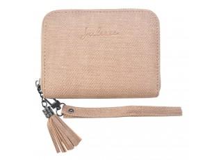 Béžová menší peněženka - 12.5*9 cm