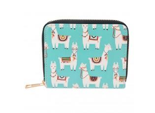 Menší peněženka Lama - 12*10*2 cm