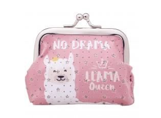 Malá růžová peněženka Lama no drama - 10*7 cm