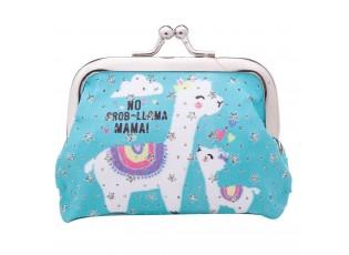 Modrá malá peněženka Lama - 10*7 cm