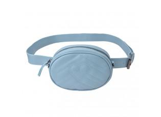 Modrá kabelka s páskem okolo pasu - 17*11*6 cm