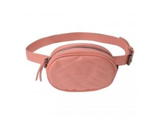 Růžová kabelka s páskem okolo pasu - 17*11*6 cm