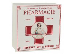 Plechová lékárnička - 22 * 22 * 9 cm