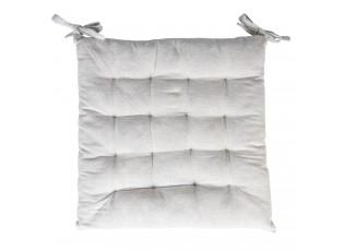 Světle šedý bavlněný podsedák na židli - 40*40*4 cm