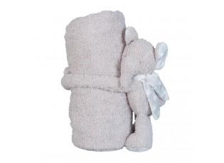 Pléd pro miminko s plyšovým slonem - 75*100 cm