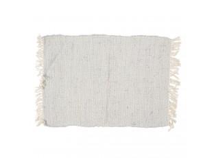 Šedý bavlněný koberec s třásněmi - 60*90 cm