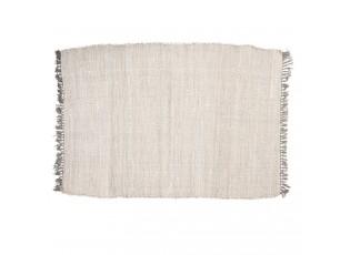 Béžový bavlněný koberec se střapci - 90*140 cm