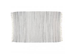 Bavlněný koberec s šedým melírováním a střapci - 90*140 cm