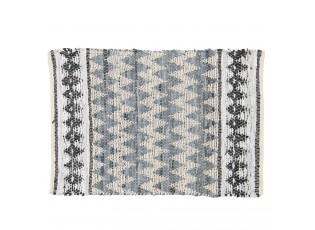 Krémovo-černý koberec z bavlny - 60*90 cm