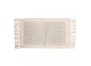 Bavlněný koberec se střapci a květinovými ornamenty - 70*120 cm