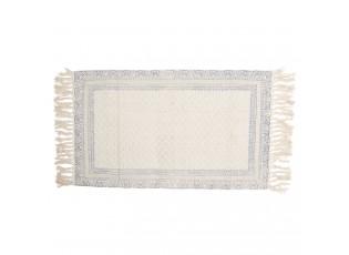 Krémový bavlněný koberec s šedými ornamenty - 70*120 cm