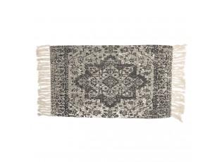 Bavlněný koberec s ornamentem a třásněmi - 70*120 cm