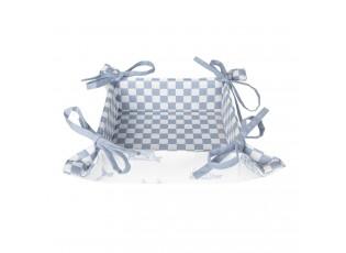 Košík na pečivo z bavlny s bílo-modrým potiskem Life with Cows - 35*35*8 cm