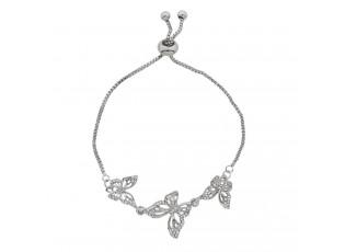 Stříbrný náramek s motýlky - Ø 6-7 cm