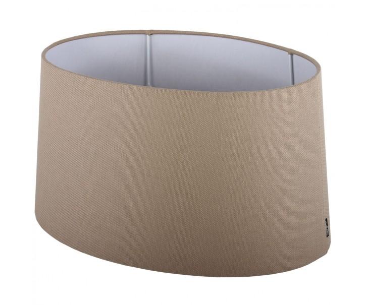Béžové stínidlo ovál Ambienta natural - 30*21*14cm/ E27