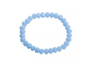 Světle modrý matný korálkový náramek L