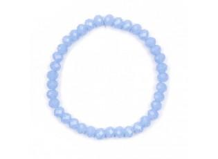 Světle modrý matný korálkový náramek M