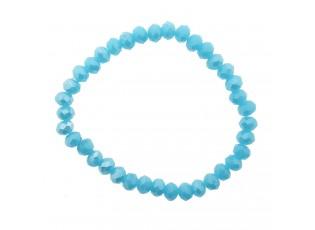 Modrý korálkový náramek s většími korálky M
