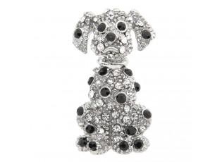 Stříbrná brož Dalmatin - 3*4 cm