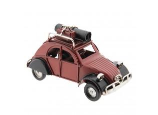 Retro kovový model červeného auta - 11*5*6 cm