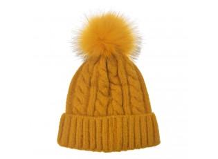Žlutá dámská čepice / kulich