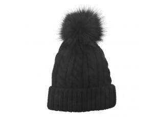 Černá dámská čepice / kulich
