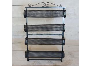 Černý kovový stojan na náramky - 30*46 cm