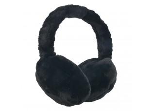 Černé klapky na uši - Ø 13 cm