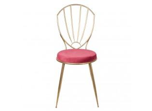 Kovová zlatá židle Red gold - 46*58*97 cm
