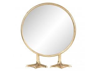 Zlaté kosmetické zrcátko Duck - 25*9*30 cm
