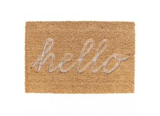 Kokosová rohožka Hello - 60*40*1 cm