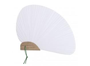 Bílý vějíř - 20 cm