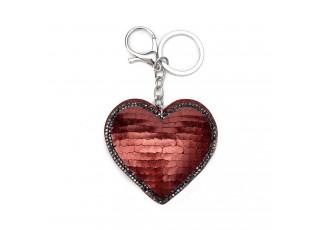 Klíčenka s přívěskem červeného srdce