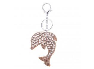 Přívěsek na klíče Delfín s kamínky