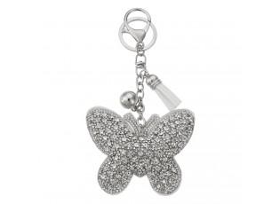 Přívěsek na klíče motýl s kamínky