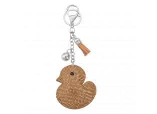 Přívěsek na klíče kačenka s kamínky