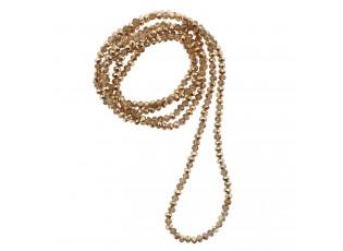 Zlatý náhrdelník z korálků - 4mm*1m