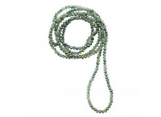Zelený náhrdelník z korálků - 4mm*1m