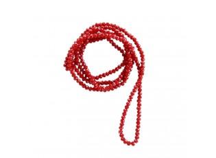 Červený korálkový náhrdelník - 4mm*1m